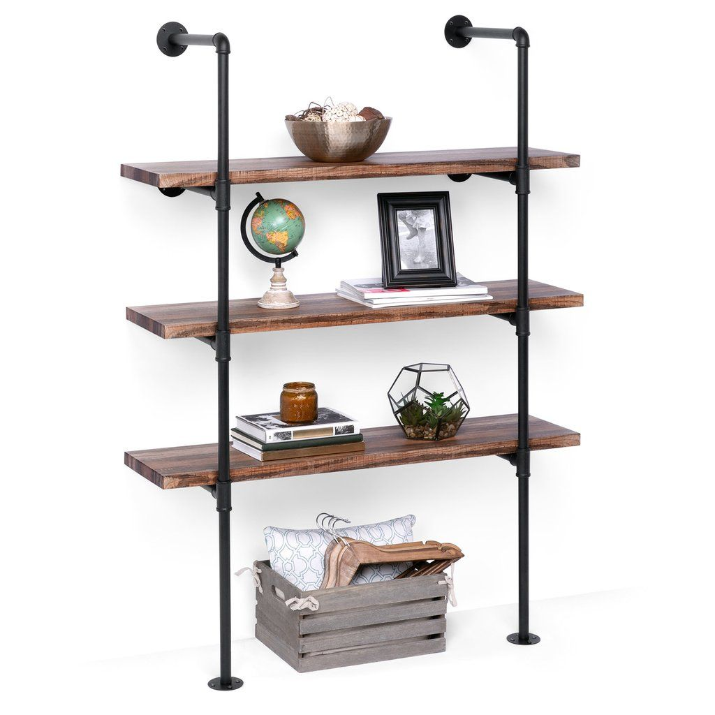 Pipe Decor 4 Tier Industrial Shelves
